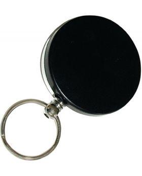 Schlüsselflip mit Nylonseil 1000mm schwarz Kunststoff 50mm
