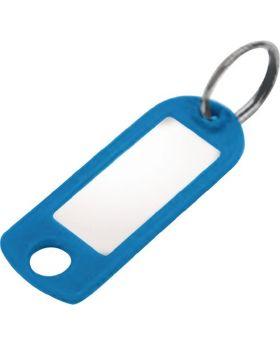 Schlüsselanhänger 8033 FS, transparent Kunststoff, Schlüsselring, 100 Stück