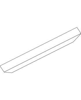 GEZE Abdeckprofil OL 90 weiß Länge 2000 mm