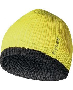 Strickmütze Marisu universal gelb/grau