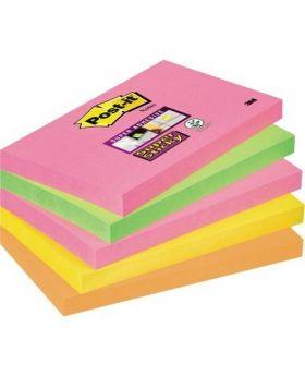 Post-it Haftnotiz Super Sticky Neon Notes 655S-N 127x76mm 5 St./Pack.