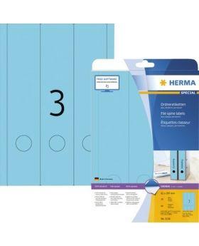 Etikett SuperPrint 61x297mm Ordner A4 blau lang 60Stk