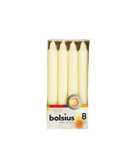BOLSIUS Stumpenkerzen18x2,1cm elfenbein, 8x8=64 Stück