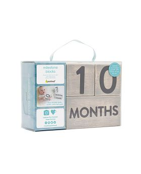PEARHEAD Baby Lebensalterblöcke, grau, 6 Packungen