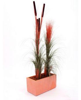 Schilfgras hellbraun 127cm, Kunstpflanze