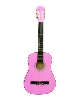 DIMAVERY AC-300 Klassik-Gitarre 1/2, pink