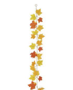 Herbstgirlande, gelb, 180cm, Kunstpflanze