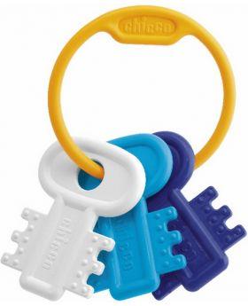 Schlüsselbeißring, blau, 12St.