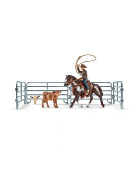 Schleich Team roping mit Cowboy