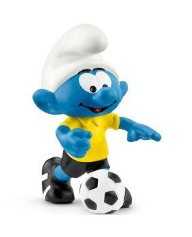 Schleich Die Schlümpfe Fußball Schlumpf mit Ball, 1 Stück