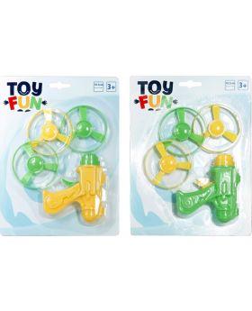 Toy Fun Flugkreisel Pistole, sortiert, 1 Stück