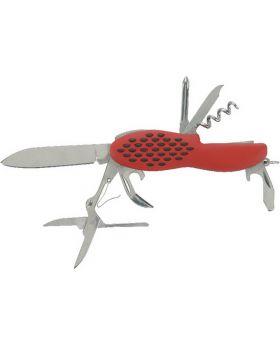 Pfiffikus-Taschenmesser mit 10 Funktionen mit Etui, 1 Stück