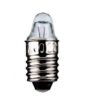 Linsenform Spitzenlinse Sockel E10 3,7 Volt 1,1 Watt 24mm klar,10er Pack