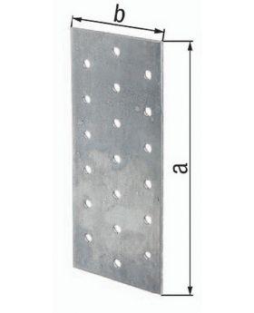 Lochplatte EN 14545:2009-2 200x60mm Stahl roh sendzimirverzinkt GAH