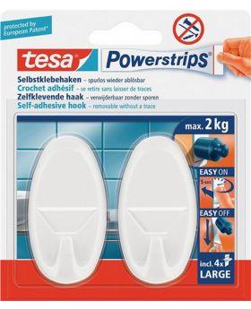Klebehaken Powerstrips Haken large weiß f. Gegenstände bis 1kg tesa SB-Karte