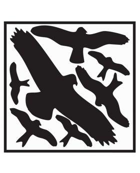 Aufkleber Vogelschutzset,Vogelsymbole Folie selbstklebend