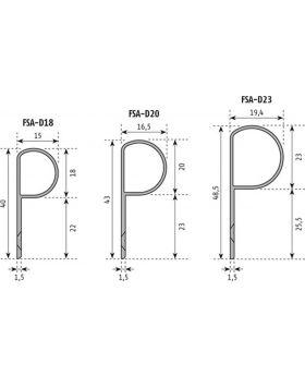 PLANET Fingerschutzprofil FSA 8300 L.1755mm Bands.Band-D.22mm verkehrsweiß