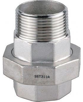 SPRINGER Verschraubung EN 10226-1 NPS 1 1/4 Zoll fl.dichtend 71mm/17/21mm, 5 St.