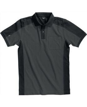 FHB Polo-Shirt Konrad Gr.XXL anthrazit-schwarz 65%BW/35%PES 300 g/qm