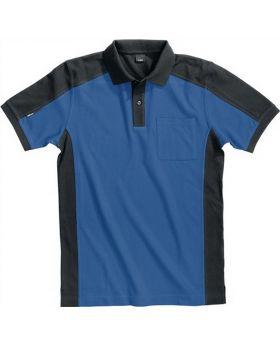 FHB Polo-Shirt Konrad Gr.XXL royalblau-schwarz 65%BW/35%PES 300 g/qm