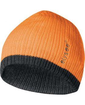 Strickmütze Georg universal orange/grau