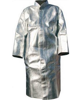 Hitzeschutzmantel DIN EN ISO 11612 Gr.52 gegen Hitze L.1200mm Jutec Aramit/Alu.
