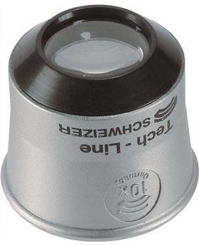 Uhrmacherlupe Tech-Line Vergrößerung 10x Linsen-D.22,8