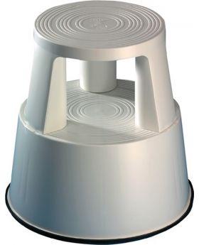 Rollhocker Kunststoff lichtgrau H.425mmxD.unten 440mm Trgf.150kg