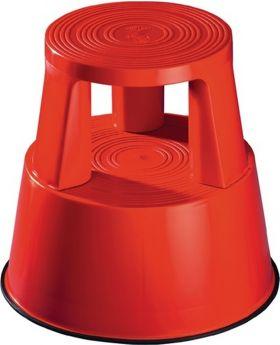 Rollhocker Kunststoff rot H.425mmxD.unten 440mm Trgf.150kg