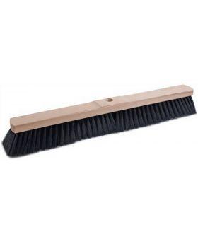 Saalbesen Qualitätsmischung PVC L. 600mm mit Stielloch Sattelholz