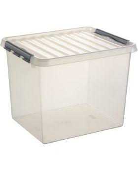 Sunware Aufbewahrungsbox Q-line H6162702 52l Deckel transparent