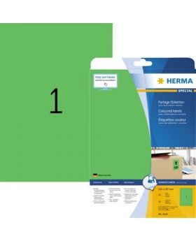 HERMA Etikett SPECIAL 4424 210x297mm grün 20 St./Pack.