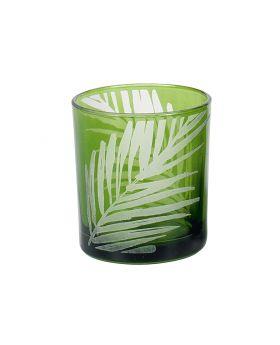 Teelichthalter Blatt H8cm grün, 6 Stück