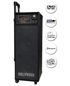 Mobile Beschallungsanlage HOLLYWOOD ''Port8 V2'' Funkmikro, BT/DVD/USB/SD/Radio