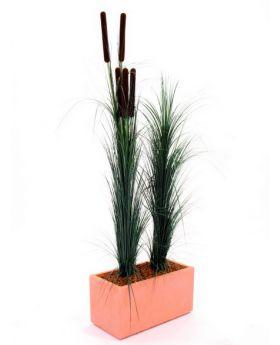 Schilfgras dunkelgrün 127cm, Kunstpflanze