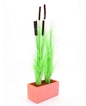 Schilfgras hellgrün 127cm, Kunstpflanze