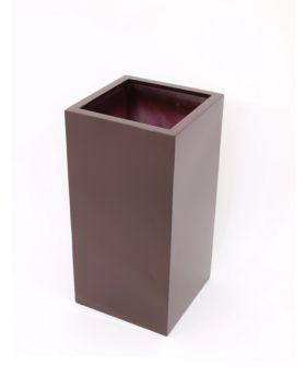 Blumenkübel BOX-80 braun, glänzend