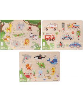 SpielMaus Holz Einlegepuzzle 7-10 Teile, im Display a 9 Stk