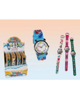 Armbanduhr Kids Watch 6-fach-sortiert im Display mit 24 Stück