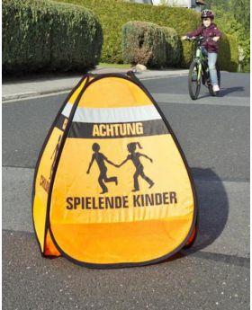 3D-Straßenwarnschild Spielende Kinder, 1 Stück